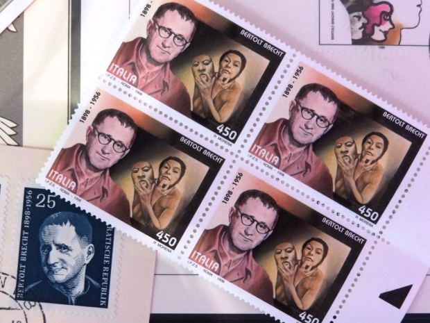 talian-and-East-German-Stamps-Commemorating-Bertolt-Brecht-Bert-Brecht-Haus-Augsburg-Germany_Adam-Jones