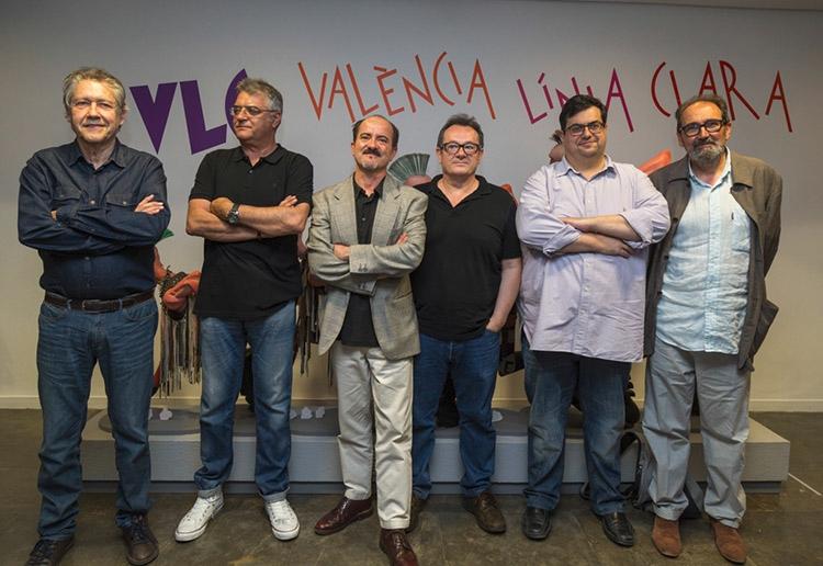 Inauguración con Mique Beltrán, Miguel Calatayud, Sento Llobell, Manel Gimeno y Daniel Torres 09-06-2016